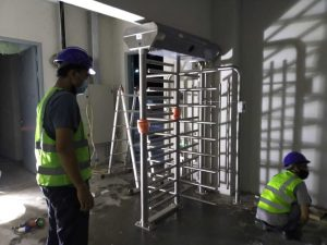 FHT Tatamulia-Entrance Control.Full Heigh Turnstile.Flap Barrier Turnstile.Tripod Turnstile Gate.Entrance Control Murah.Walk Metal Detector (4)